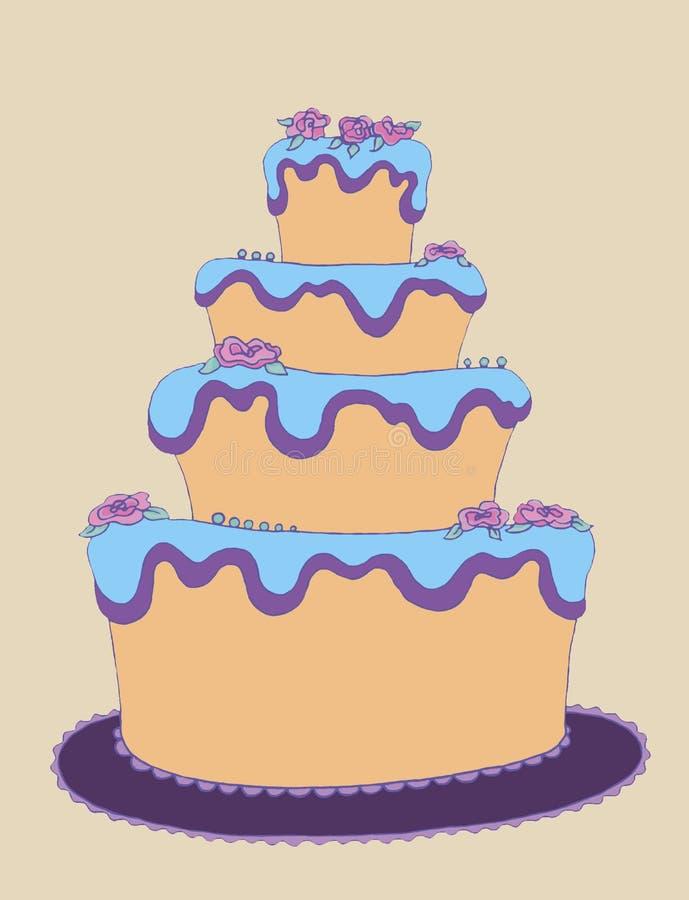Большой торт стоковая фотография