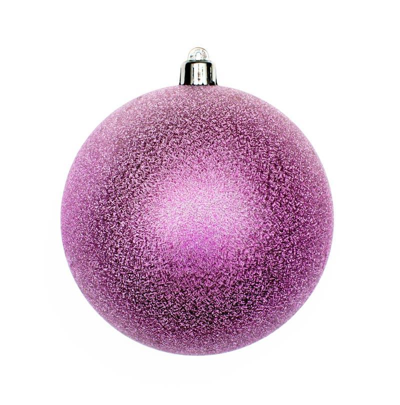 Большой фиолетовый изолированный шарик рождества стоковое изображение rf