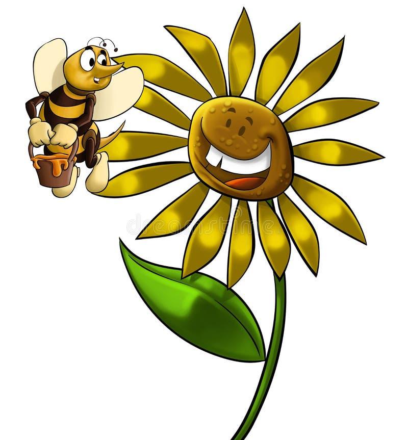большой цветок иллюстрация штока