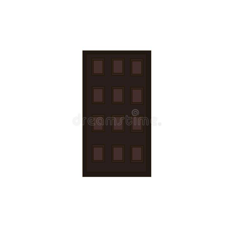 Большой шоколад иллюстрация вектора