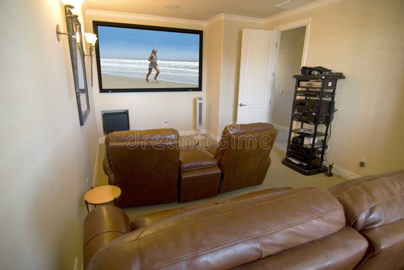 большой экран комнаты средств стоковая фотография rf