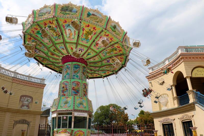 Большой carousel в парке Prater стоковое фото rf