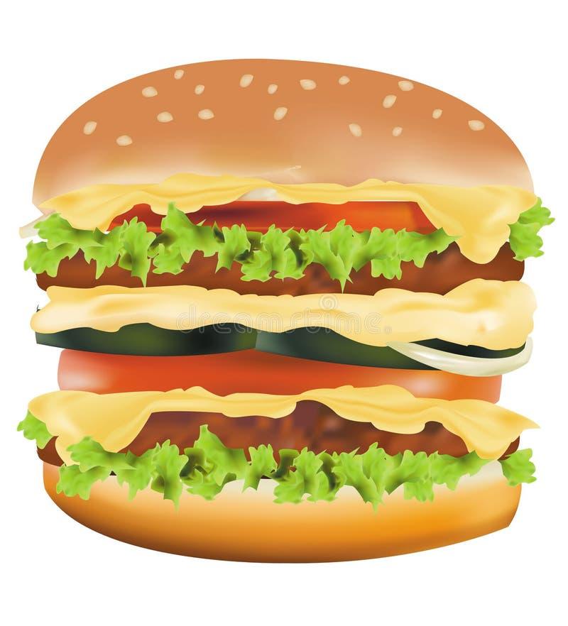 большой cheeseburger иллюстрация вектора