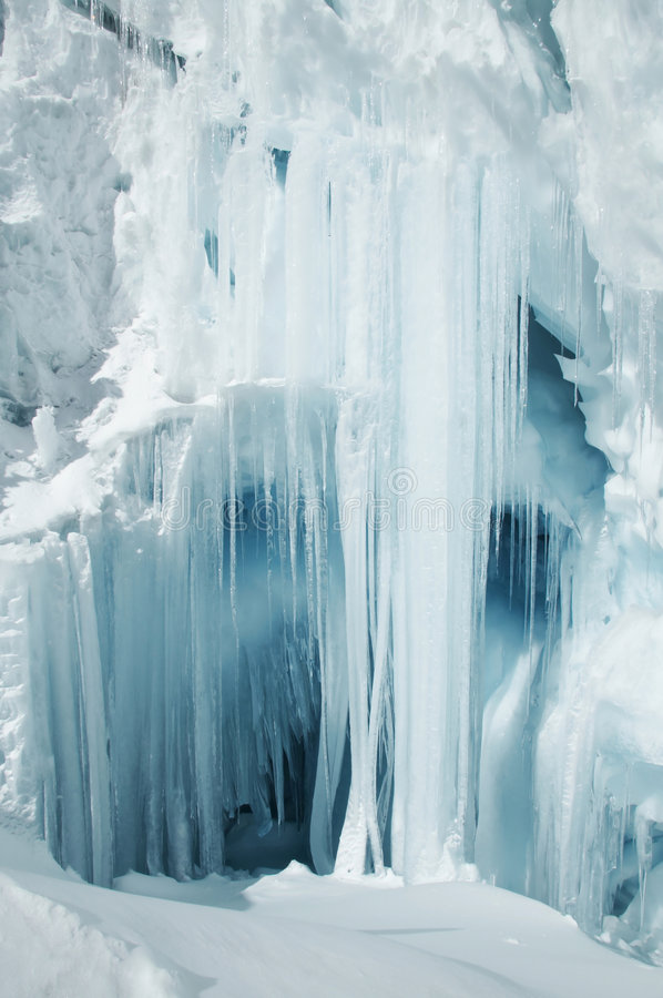 большой icicle стоковая фотография