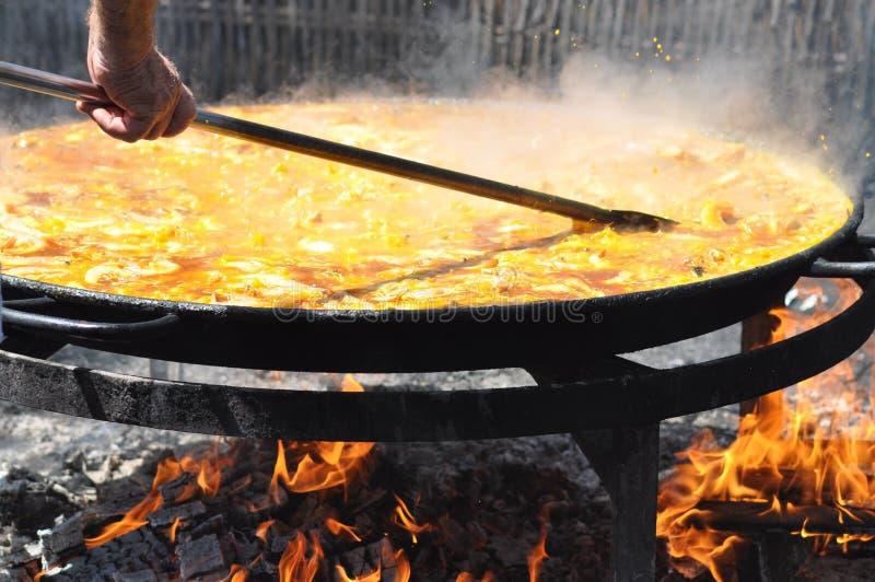 большой paella стоковые изображения rf