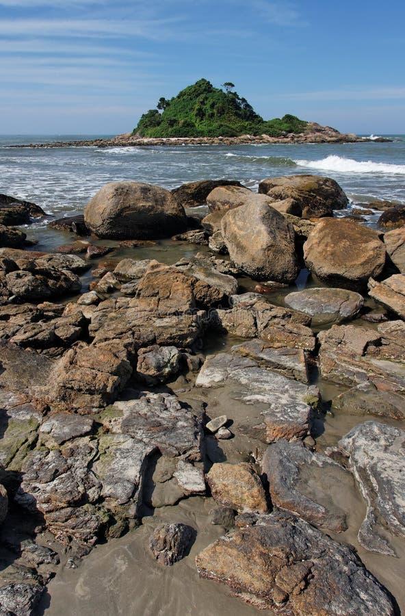 большой sao praia paulo стоковое изображение