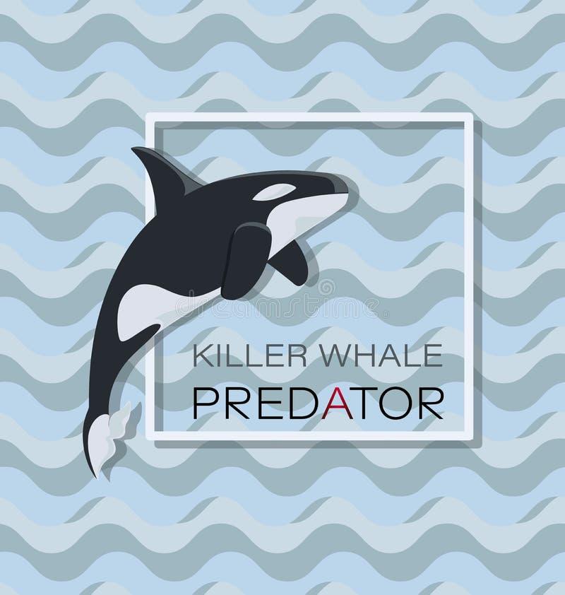 Большой toothed кит Дельфин-касатка r иллюстрация штока