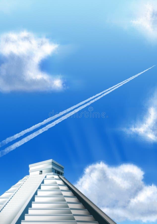 больш chichen небо itza стоковые изображения