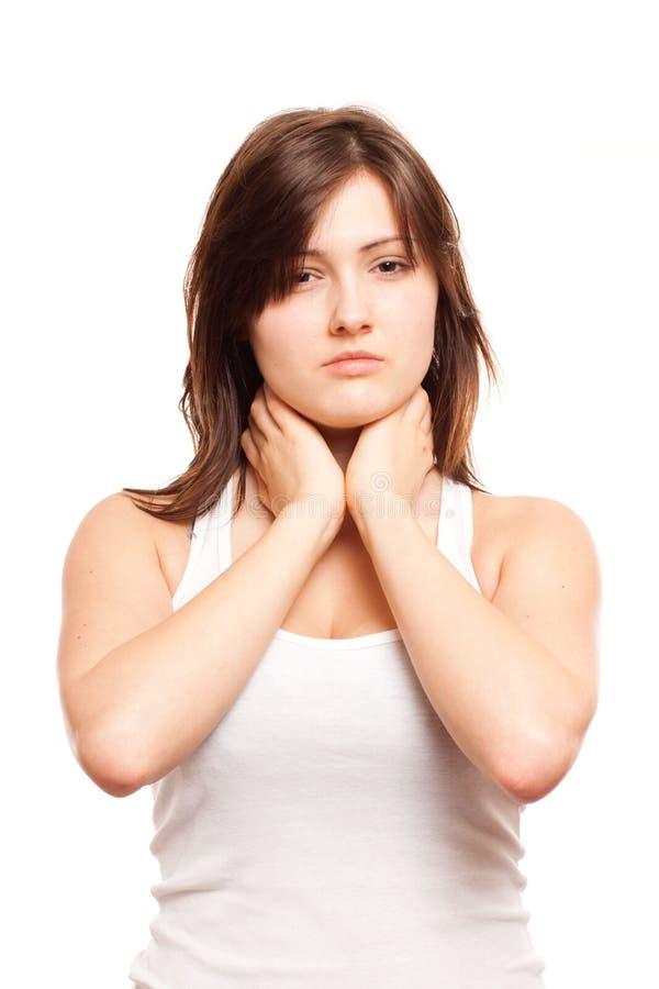 Боль в горле Стоковые Изображения RF