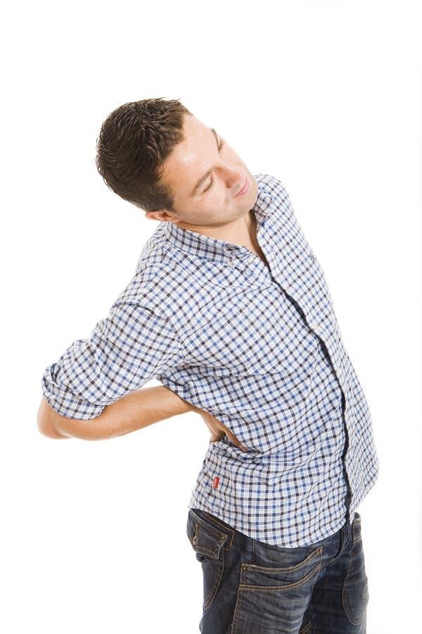 боль в спине стоковое изображение