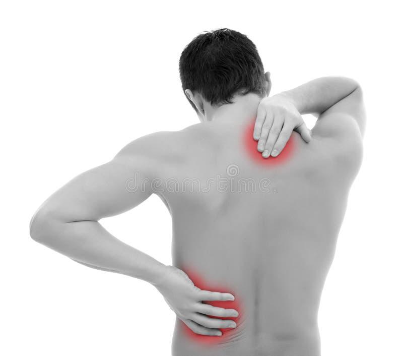 боль в спине стоковое изображение rf