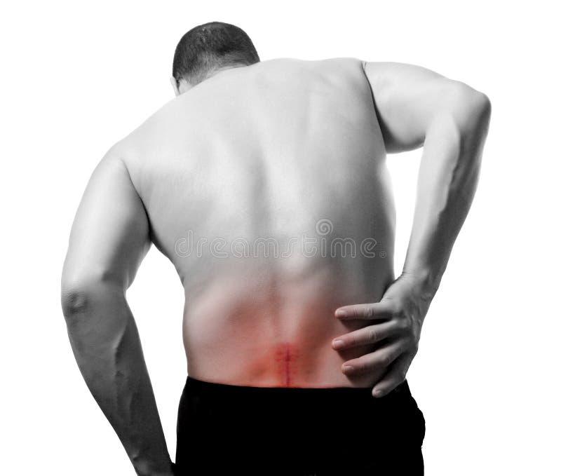 боль в спине стоковая фотография rf