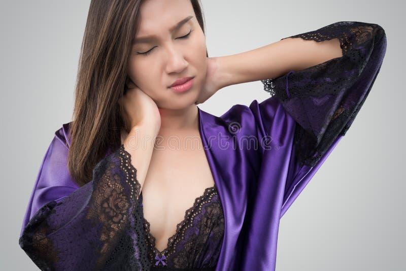 Боль шеи стоковые изображения