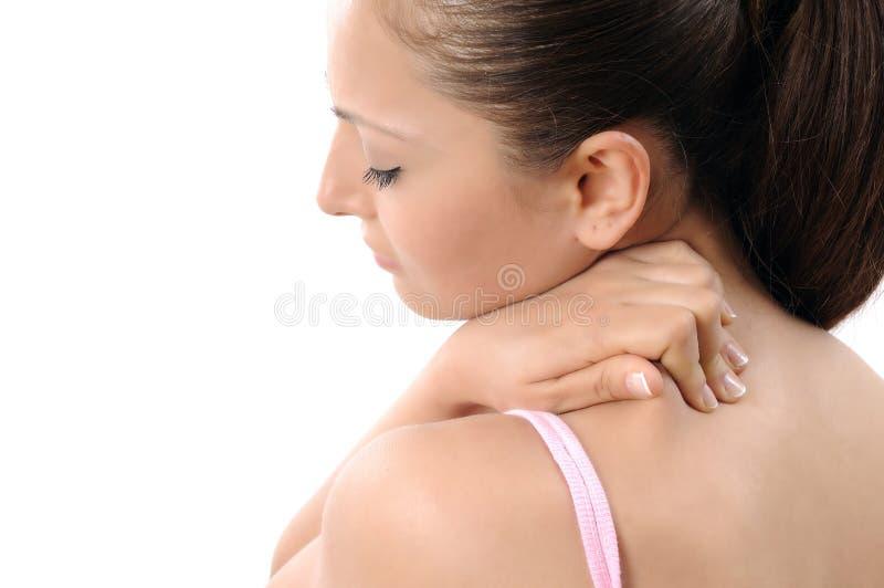 боль шеи стоковое изображение