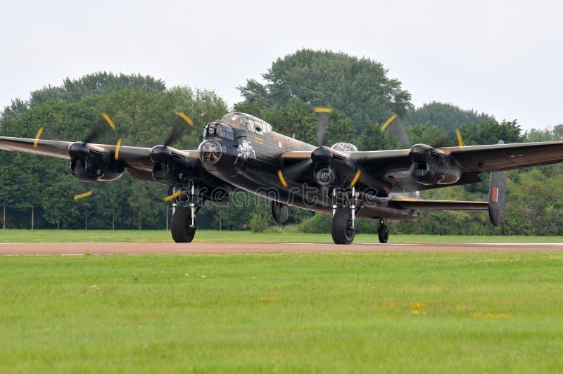 Бомбардировщик Ланкастер стоковое изображение rf
