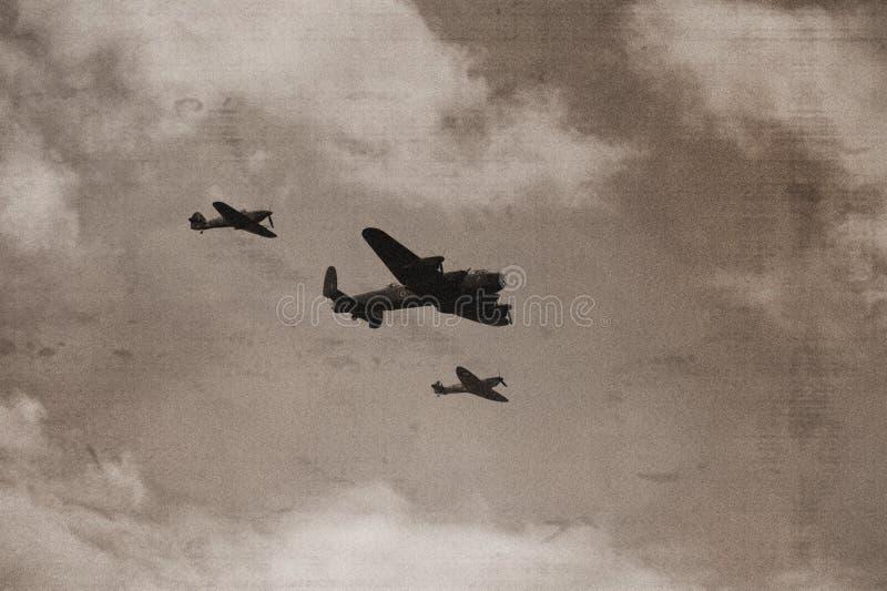 бомбардировщик lancaster стоковые фото