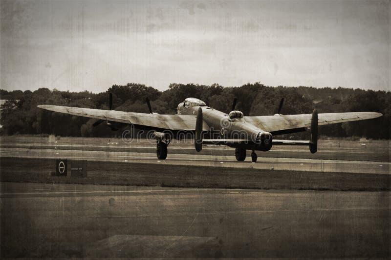 бомбардировщик lancaster стоковая фотография rf