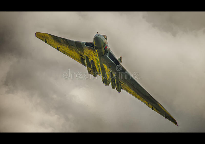 бомбардировщик avro vulcan стоковое изображение rf