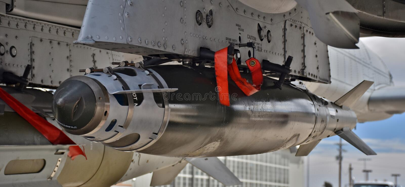 Бомба военновоздушной силы JDAM умная стоковое изображение rf