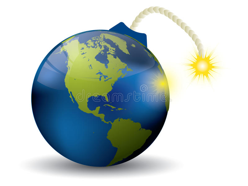 Бомба земли бесплатная иллюстрация