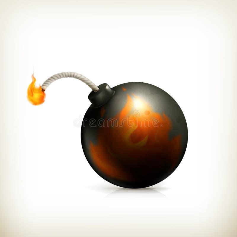 Бомба, икона бесплатная иллюстрация