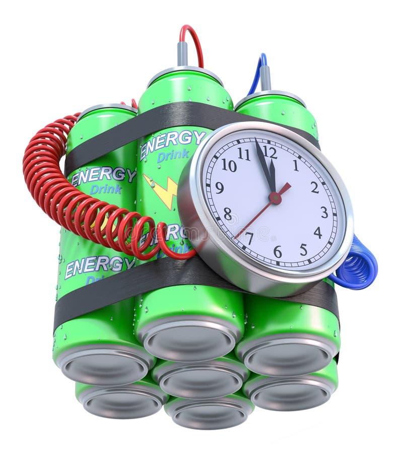 Бомба питья энергии иллюстрация штока