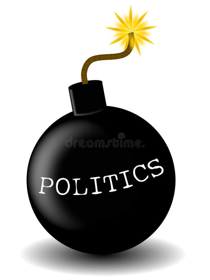 бомба политическая иллюстрация вектора