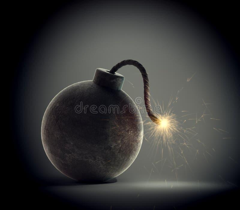 Бомба сбора винограда иллюстрация штока