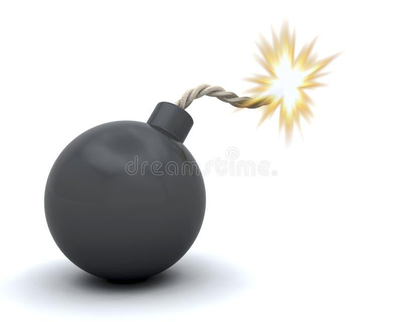 бомба шуточная иллюстрация вектора