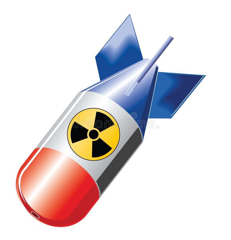 бомба ядерная иллюстрация штока