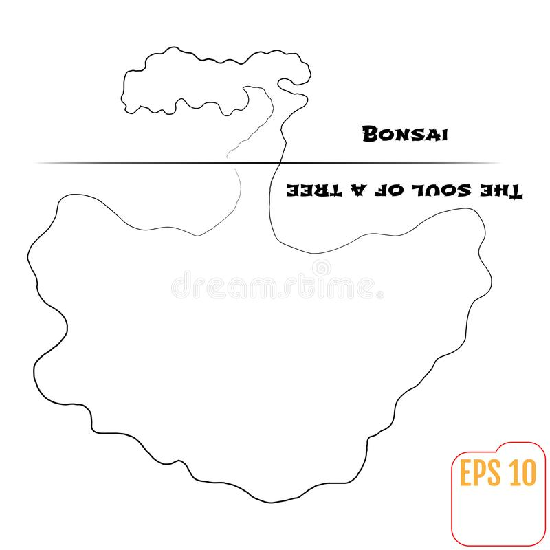 Бонзаи и душа дерева абстрактная предпосылка бесплатная иллюстрация