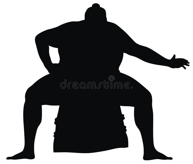 борец sumo иллюстрация вектора