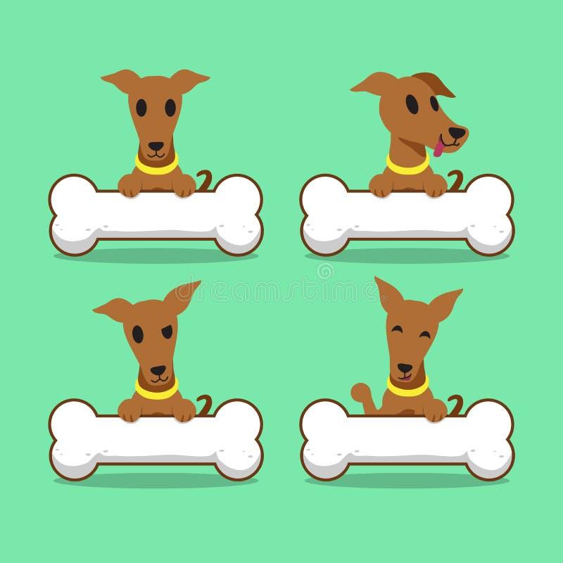 Борзая персонажа из мультфильма коричневая с большими косточками иллюстрация штока