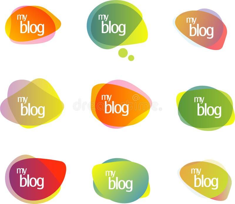 бормотушк пузырей блога иллюстрация вектора