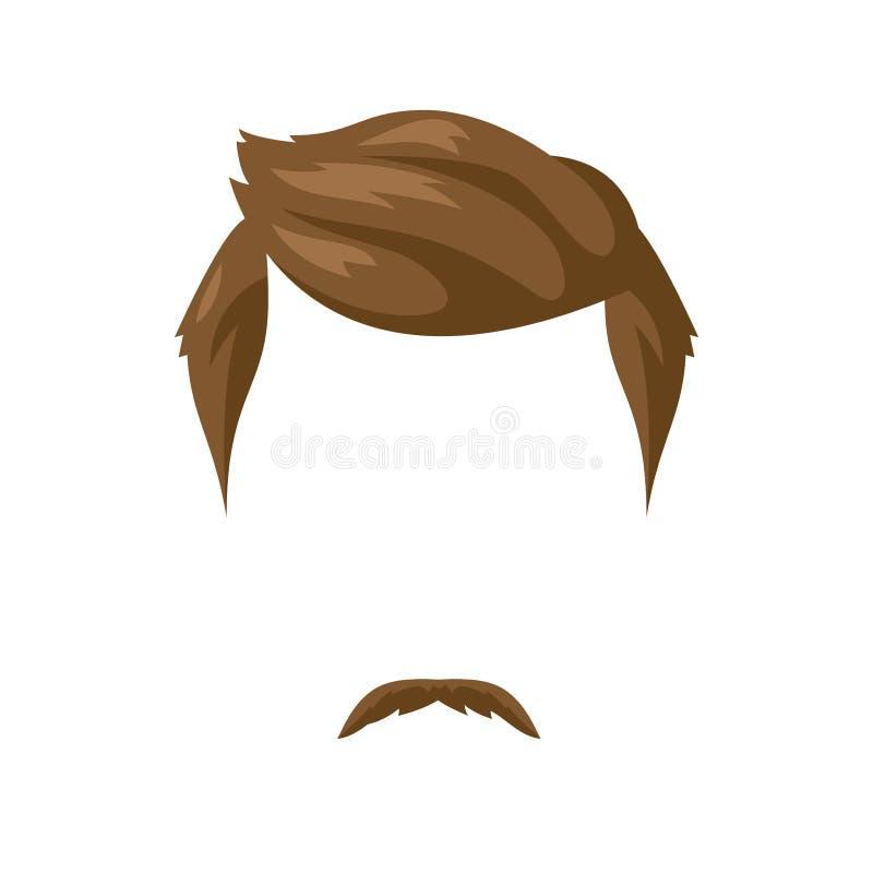 Борода, усик и стиль причёсок иллюстрация штока