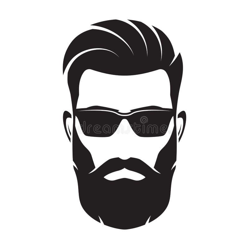 Бородатая сторона людей, характер битника также вектор иллюстрации притяжки corel иллюстрация штока