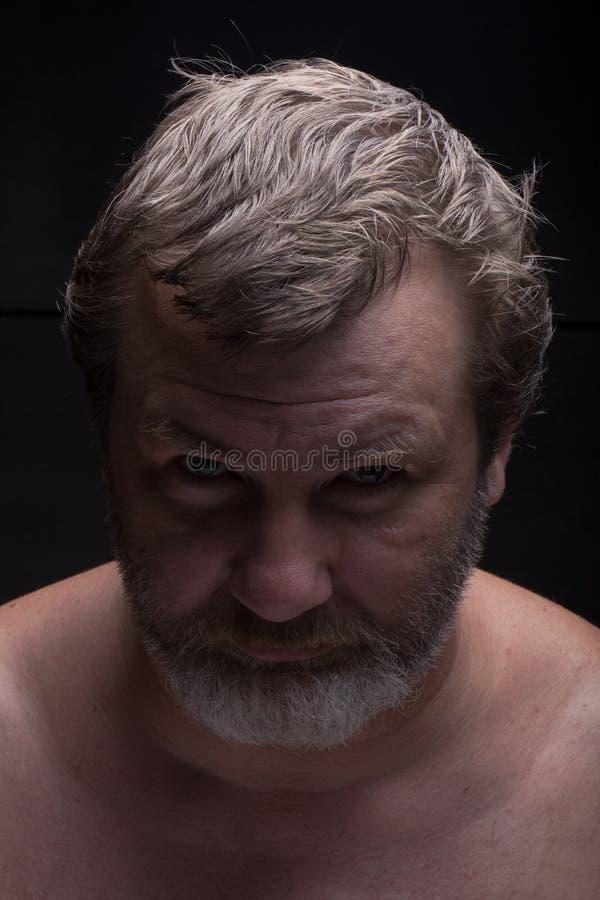 бородатый портрет человека вниманиях стоковое фото rf