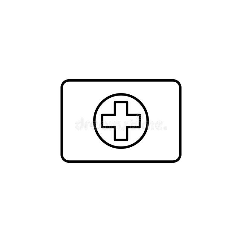 Бортовая аптечка, здоровая, значок плана спорта Элемент иллюстрации спорта зимы Знаки и значок символов можно использовать для се бесплатная иллюстрация