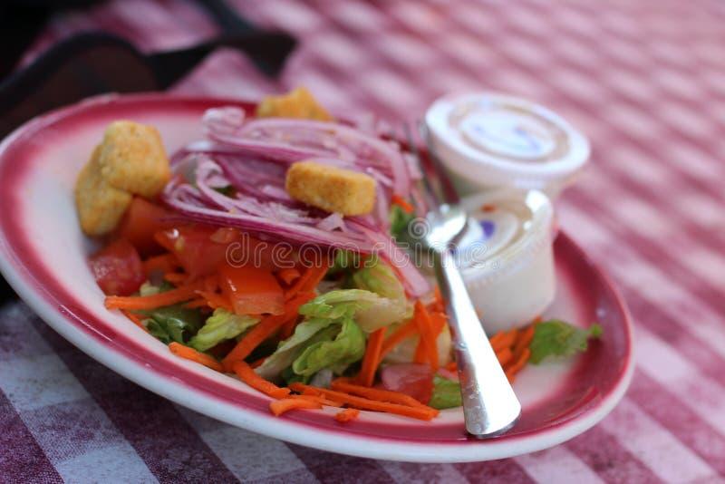 Бортовой салат на плите стоковые изображения rf