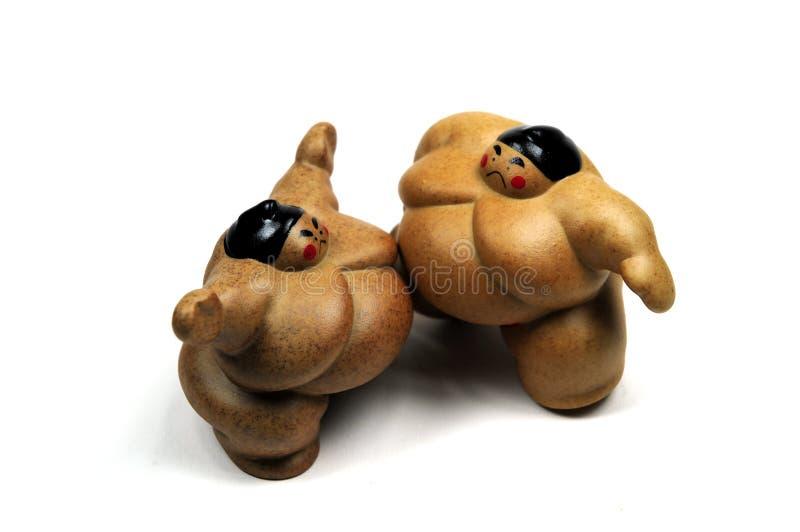 борцы sumo боя стоковые изображения