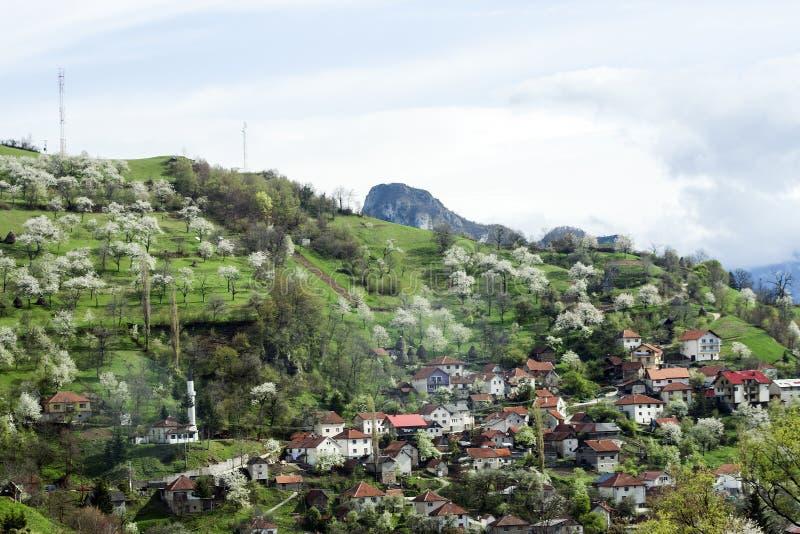 Боснийское время деревни весной стоковые фото