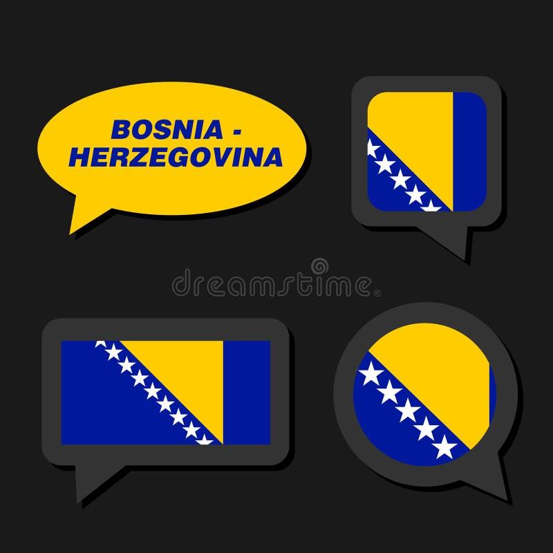 Босния и Герцеговина сигнализирует в пузыре диалога иллюстрация штока