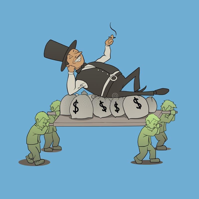 Босс миллиардера иллюстрация штока