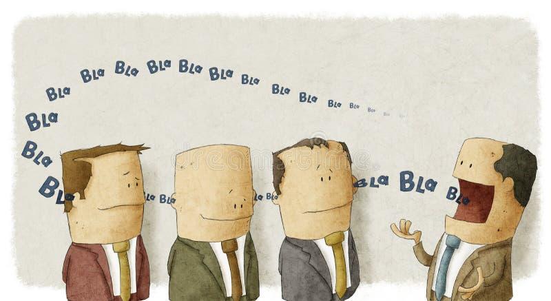 Босс с работниками иллюстрация вектора