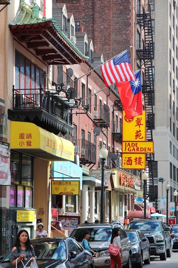 Бостон Чайна-таун стоковые фотографии rf