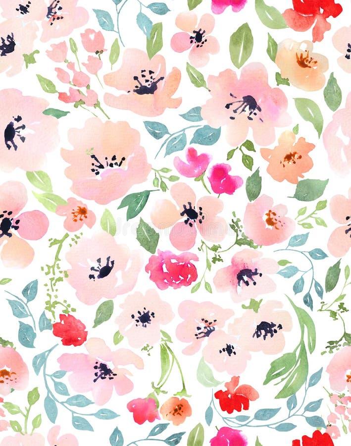 ботаническая картина безшовная иллюстрация штока