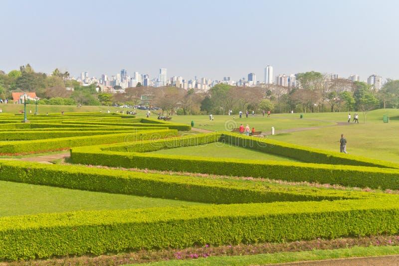 Ботанический сад в Curitiba, Parana, Бразилии стоковые изображения rf