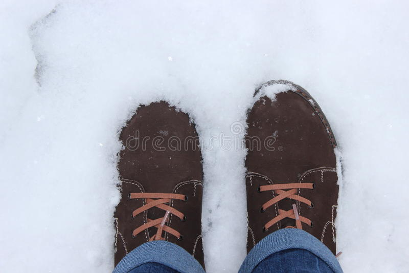 Ботинки в снежке стоковое фото
