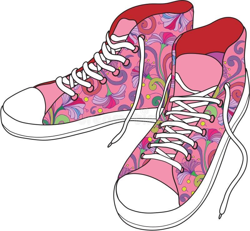 ботинки гимнастики иллюстрация вектора