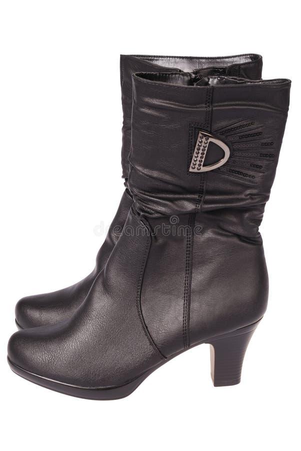 Ботинки женщин (путь клиппирования) стоковые фото